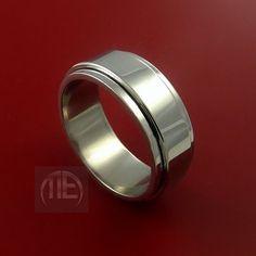 Titanium Wedding Band Engagement Ring CLASSIC by StonebrookJewelry, $39.92