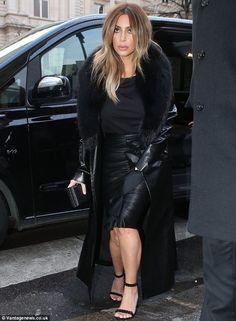 Kim Kardashian wearing Givenchy Ruffled Pencil Skirt
