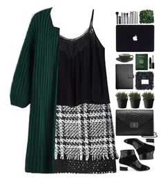 """#396"" by giulls1 ❤ liked on Polyvore featuring MSGM, Isa Tapia, Mulberry, Royce Leather, Muuto, NARS Cosmetics, GREEN, plaid, plaidskirt and greeneblack"