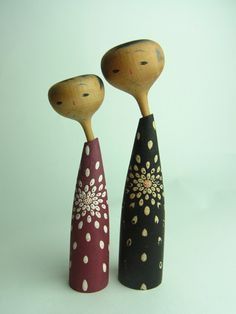 vintage kokeshi couple
