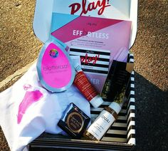 My #July  #sephora #play #box! I've been wanting to try #quai #hair #products! Already love #toofaced #chocolate #Bronzer  #cosmetichaulic #subscriptionbox #subscriptionboxes @sephora @toofaced @firstaidbeauty #nestfragrances #beautyblender #bblogger #playbox