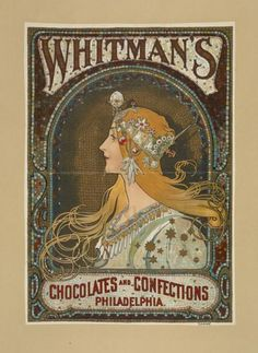 Whitman's Chocolates and Confections by Alphonse Mucha