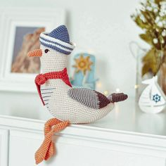 Excited to share the latest addition to my #etsy shop: Mister Seagull crochet pattern - Amigurumi seagull toy - Nautical home decor - Nautical nursery decor - LaCigogne design #babyshower #crochetseagull #seagullpattern #crochetpattern #amigurumiseagull Crochet Bee, Crochet Birds, Cute Crochet, Amigurumi Toys, Crochet Patterns Amigurumi, Crochet Toys, Diy Crochet Animals, Nautical Nursery Decor, Crochet Christmas Trees