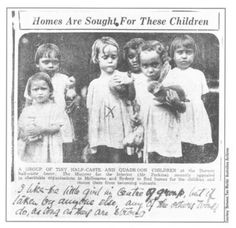 The Children Were Sent To Government Housing Or Sold Or Adopted To Work For European Families