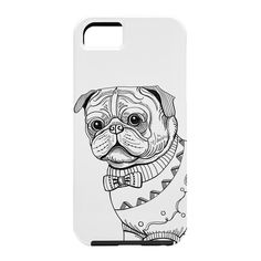 Pimlada Phuapradit pug line art Cell Phone Case | DENY Designs Home Accessories