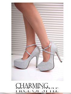 fd1a70b02c3 Crystal Shoes Platform High Heels wedding Bride shoes ~ Shop sale!