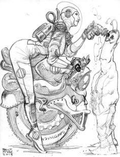 Space Lady Sketch by BrentMcKee on deviantART