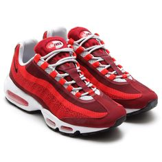 a24336b2234c NIKE AIR MAX 95 JACQUARD UNIVERSITY RED TEAM RED-LIGHT CRIMZON WOLF  GREY PURE PLATINUM