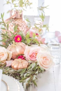 I love the timeless look of copper. In the past, I have incorporated it into a few tablescapes, but have noticed a new classic popping up of late - rose gold. #decoartprojects