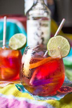 Key Lime Cherry Coconut Fizz Cocktail @captainmorganusa #SunsOutRumsOut #recipe by @artfulgourmet