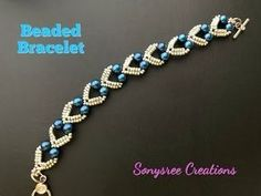 Beaded Jewelry Best collection of free jewelry making tutorials, craft ideas, design inspirations, tips and tricks and trends Armband Diy, Beaded Bracelets Tutorial, Beaded Bracelet Patterns, Beaded Necklace, Embroidery Bracelets, Bracelet Designs, Armband Tutorial, Making Bracelets With Beads, Bead Jewelry