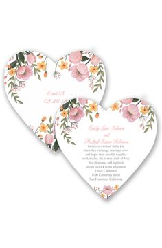 Sweetheart Floral Wedding Invitation by David's Bridal