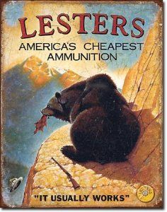 Amazon.com: Lester's Ammunition Hunting Ammo Distressed Retro Vintage Tin Sign