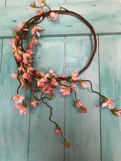 Apple Blossom or cherry blossom door wreath