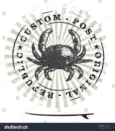 stock-vector-grunge-surf-stamp-with-crab-and-table-89482810.jpg (1406×1600)