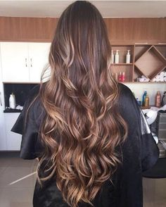 33 trendy ombre hair color ideas of 2019 - Hairstyles Trends Cabelo Ombre Hair, Balayage Hair, Curled Hairstyles, Cool Hairstyles, Brunette Hair Cuts, Ombre Hair Color, Super Hair, Dark Hair, Hair Looks