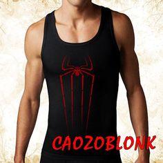 spiderman  logo men tank top print screen tank top by CAOZOBLONK, $20.00