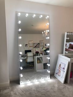 Full Length Mirror by GLAM DOLLThis Full length Mirror provides the ultimate lighting for your Salon or home with 27 day light tone LED which are long-life and cool to the touch.