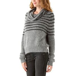 Mes Demoiselles Paris Cowl Neck Fuzzy Small Sweater. Free shipping and guaranteed authenticity
