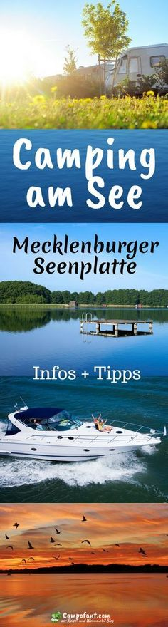 Camping am See an der Mecklenburger Seenplatte - Campofant Camping by the lake is possible on the Mecklenburg Lake District. Simply choose a place at one of the many campsites and you can enjoy Lake District, Checklist Camping, Camping Hacks, Travel Hacks, Camping Am See, Photo Surf, Cruise Tips Royal Caribbean, Camper, Travel Itinerary Template