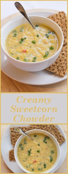 This creamy sweetcorn chowder is a perfect low cost, low calorie and easy to put together and make in 30 minutes heart warming meal. It's just perfect for a cold winters day. Or making you feel better.