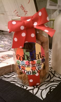 What a great graduation favor or present? CONGRATS to one smart cookie with home-made cookies! Adorable!