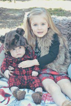 Christmas Tree Farm Family Photos/Fawn Over Baby. Baby Toddler Fashion #babyfashion