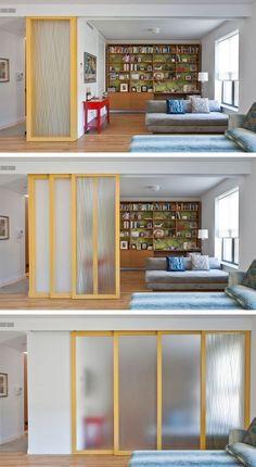 # 12. 벽을 슬라이딩 설치! 작은 공간 생활 29 음흉 팁 | (개인 정보 보호를 위해 열린 느낌을 유지하면서)