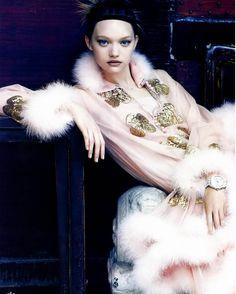 Gemma Ward, Vogue China, Sept. 2005. Photo by Patrick Demarchelier.