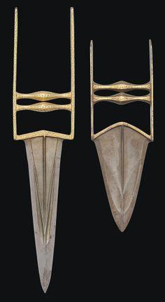 TWO GOLD-DAMASCENED PUSH DAGGERS (KATARS) NORTH INDIA, 18TH CENTURY | Christie's