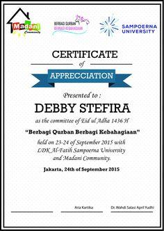 Ied ul adha certificate