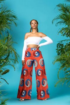 Karoi African Print Wide Leg Pants – Grass-fields