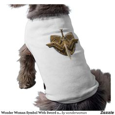 Wonder Woman Symbol With Sword of Justice Tee #superhero #DC #comics #wonder #woman #official #licensed #merchandised #animal #pet #dog #fashion #t-shirt #clothing #attire #wearable #apparel