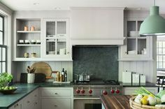 modern-farmhouse-renovation-kitchen-light-gray-paint-soapstone-countertops