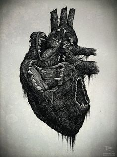 wolf heart by Richy. Cool but dismal . hope its not an omen!