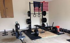 A very basic and affordable, yet complete garage gym setup. This could be yours!
