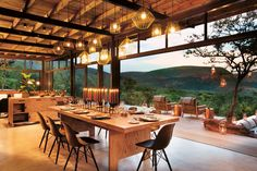 Marataba Trails Lodge is the perfect location for a malaria-free walking safari to see the Big Five. Explore this stunning region when you stay at this South Africa safari lodge. Future House, My House, Exterior Design, Interior And Exterior, Cafe Interior, My Dream Home, Beautiful Homes, New Homes, Modern Lodge