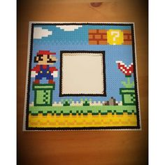 Mario frame hama beads by perlienchen