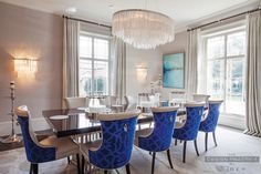 Dining room : Grade II Listed Georgian Cheshire home restored and modernised