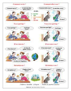 FLE - Leçon 1 - Se présenter - Page 2