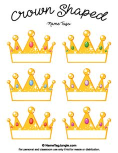 Crown Shaped Name Tags