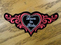 Tribal Heart Patch Funny Saying Vest Patch Motorcycle Biker Patch Club Patch