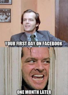 """Your first day on Facebook... One month later... "" If Facebook is driving you crazy, don't get mad, get FB Purity. FB Purity lets you clean up and customize facebook to make it much less annoying to use. Get FB Purity here: http://fbpurity.com"