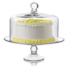 Selene Cake Dome 2 piece set is great for entertaining. It's elegant style will enhance the beauty of any baked goods    :)