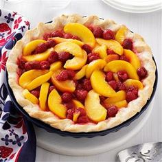 Raspberry Peach Pie Recipe -I came up with this recipe when we had a bumper crop of raspberries, and a friend gave me some of the juiciest…