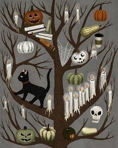 Retro Halloween, Spooky Halloween, Halloween Prints, Holidays Halloween, Halloween Decorations, Halloween Drawings, Vintage Halloween Crafts, Halloween Tumblr, Happy Halloween Pictures