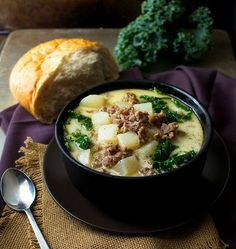 Slow Cooker Zuppa Toscana | The Chunky Chef | The classic zuppa toscana soup, in slow cooker form! It tastes WAY better than Olive Garden's, and is sure to be a crowd pleaser!