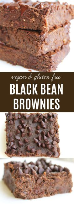 Healthy, naturally sweetened, vegan & gluten free. An intensely real chocolate taste & fudge-like texture. These are THE BEST black bean brownies!