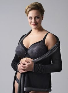 de4244374 New   Mammae Mystery Grey Glamour • Nursing Bra - available for larger cups