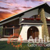 Casa cu etaj 54 | Proiecte de case personalizate | Arhitect Gabriel Georgescu & Echipa Modern House Facades, Luxury House Plans, Facade House, Design Case, Buildings, House Design, Cabin, How To Plan, House Styles
